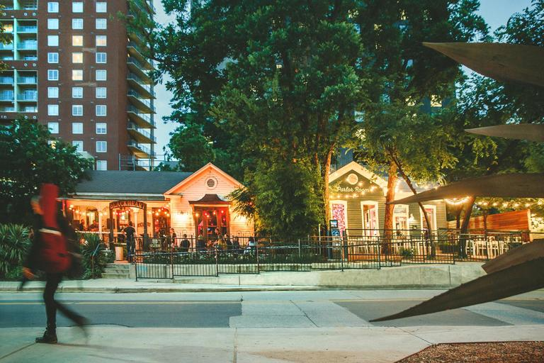 In my opinion, Rainey Street is way more fun for a late night drink than 6th. (Image: Courtesy Geoff Duncan of Austin Convention & Visitors Bureau)