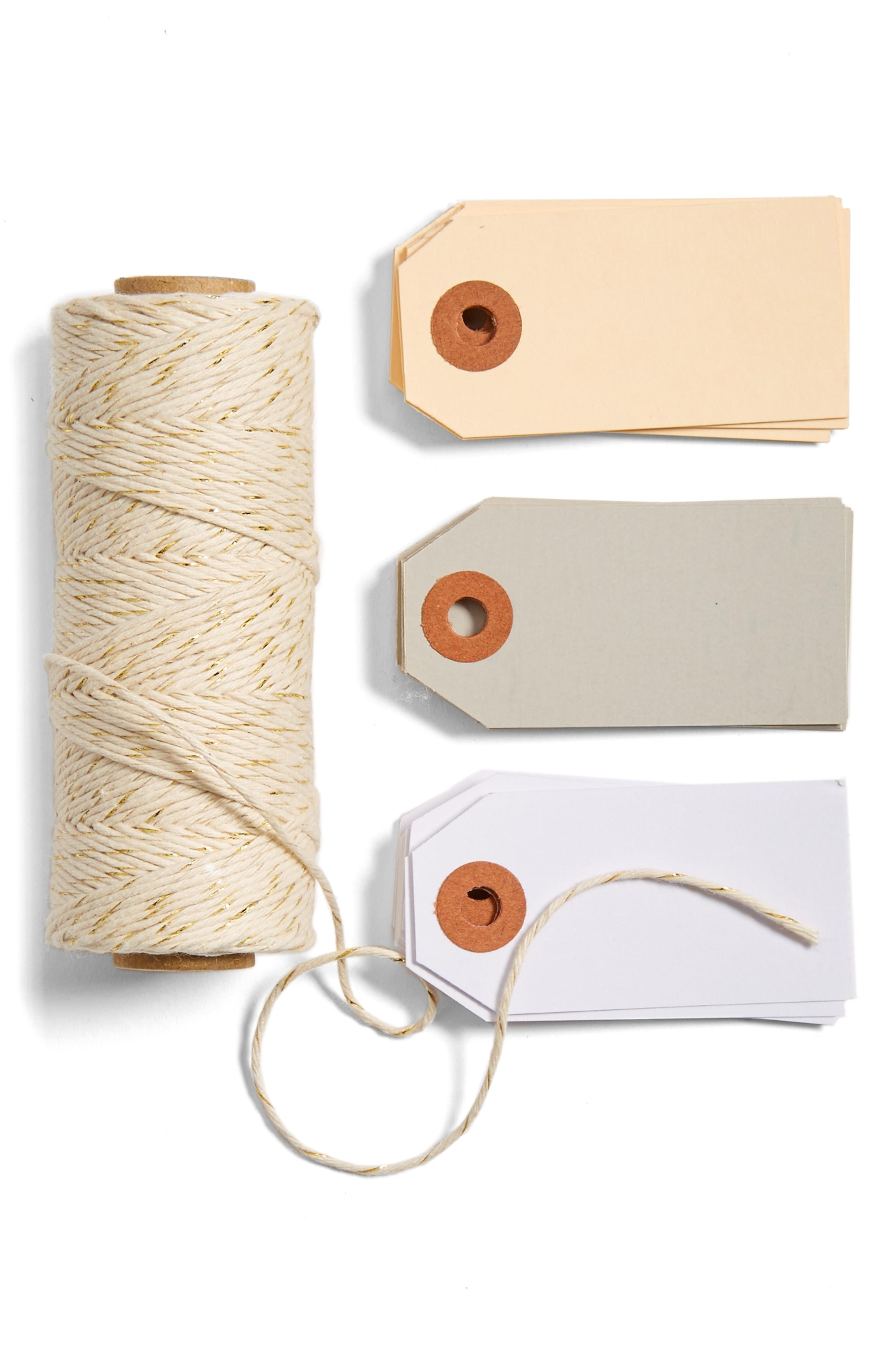 KNOT & BOW TAG  TWINE BOXES, Gold-Neutral - $20. Buy at shop.nordstrom.com/c/pop-in-olivia-kim (Image: Nordstrom)