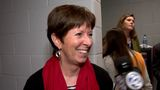 WATCH: Muffet McGraw reacts to thrilling Notre Dame Final Four win