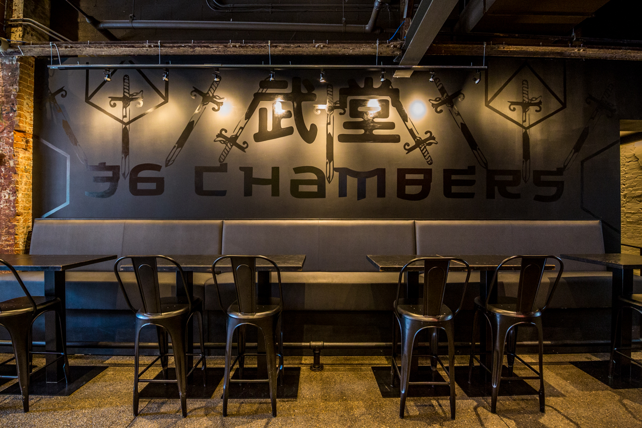 "The restaurant's bar is now an entity of its own called 36 Chambers. The name is lightly inspired by the Wu-Tang Clan's debut album ""Enter the Wu-Tang (36 Chambers)."" It also takes inspiration from the kung fu movie ""The 36th Chamber of Shaolin"" and the history behind the fighting Shaolin monks. The bar will have a hip hop vibe and feature various DJs. / Image: Catherine Viox // Published: 9.9.19"