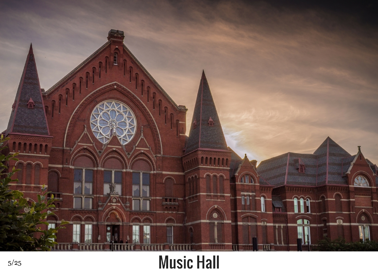 WHAT: Music Hall / WHERE: 1241 Elm Street, Over-the-Rhine 45202 / Image: Phil Armstrong, Cincinnati Refined / Published: 10.27.16