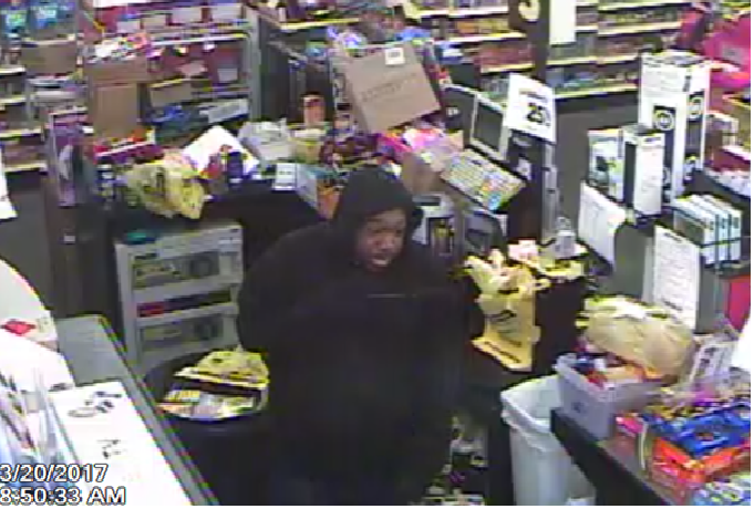 The Dollar General at 8003 N. Fraser Street was robbed shortly before 9 a.m. Monday morning and police are looking for the man they believe is responsible. (Georgetown County Sheriff's Office)