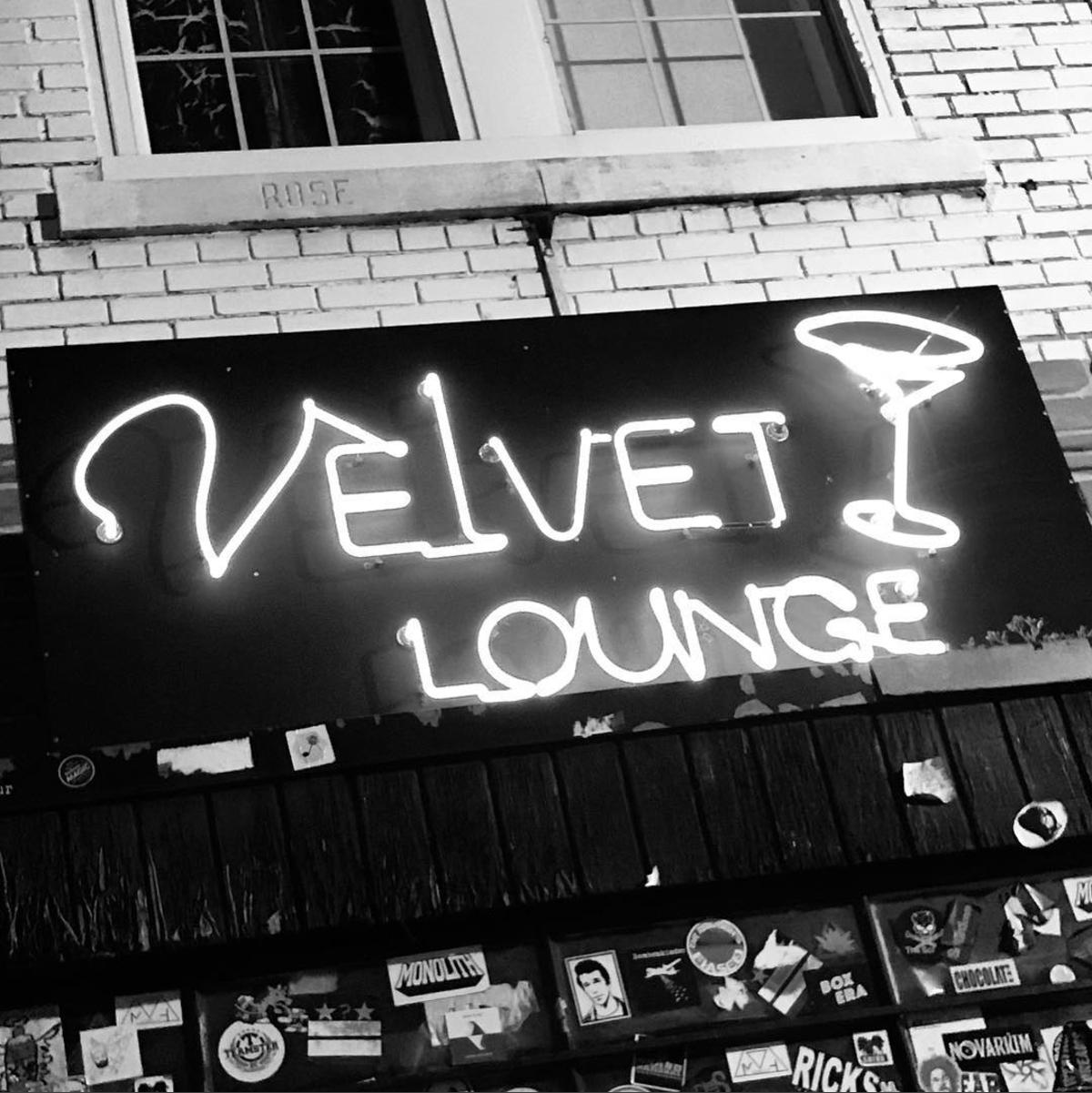 Velvet Lounge is a lowkey gem of a music venue, right down to the neon sign. (Image via @kattienoir)