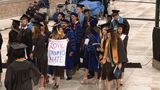 Protests, student walkout greet VP Pence at Notre Dame commencement