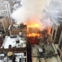 Firefighters battle huge fire at New York City church