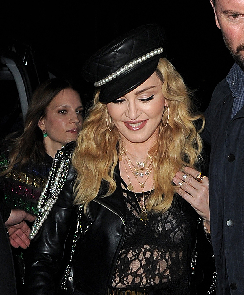 Celebrities attend Mert & Marcus: Works 2001-2014 - VIP party at Mark's Club  Featuring: Madonna Where: London, United Kingdom When: 28 Oct 2016 Credit: RV/WENN.com