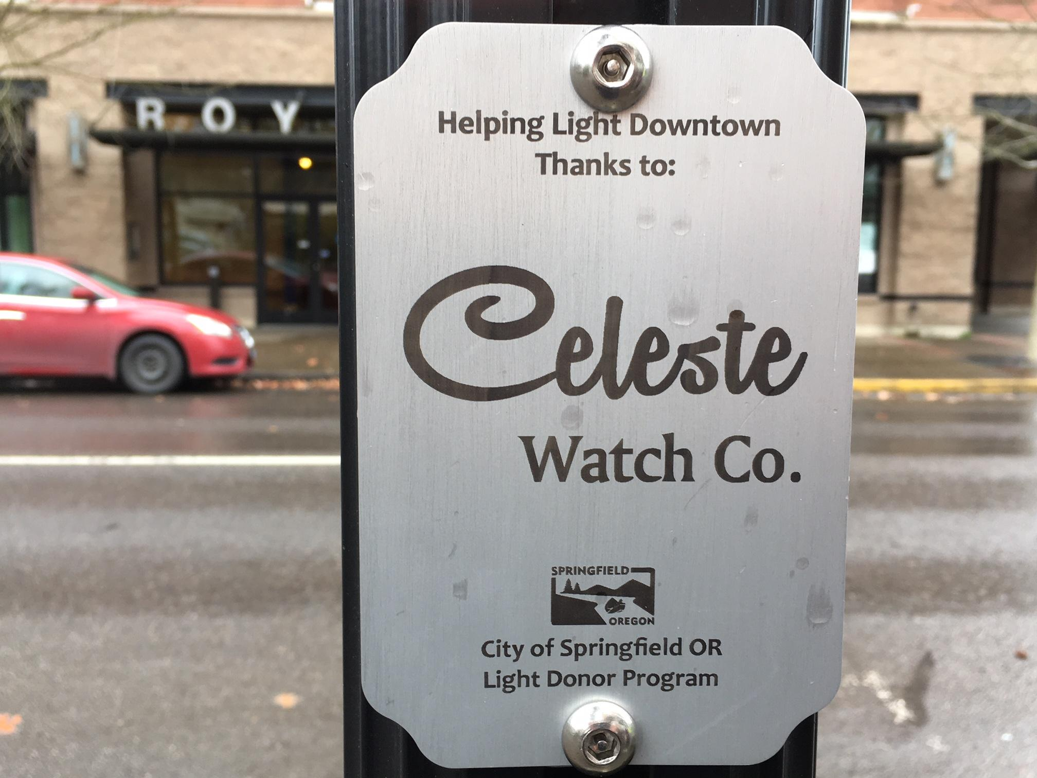 <p>This new effort will help maintain and operate the lights. A 4-inch by 6-inch plaque is available for a $500 donation. The plaques will remain in place for the life of the pole. (SBG)</p>