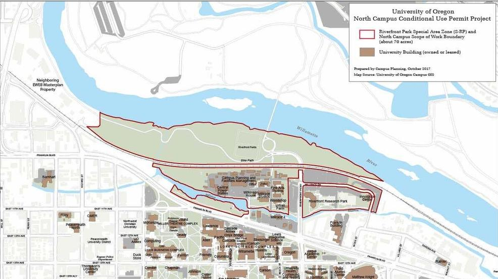 Unity Oregon Map.Uo Seeks Permit From City Of Eugene For Future Waterfront
