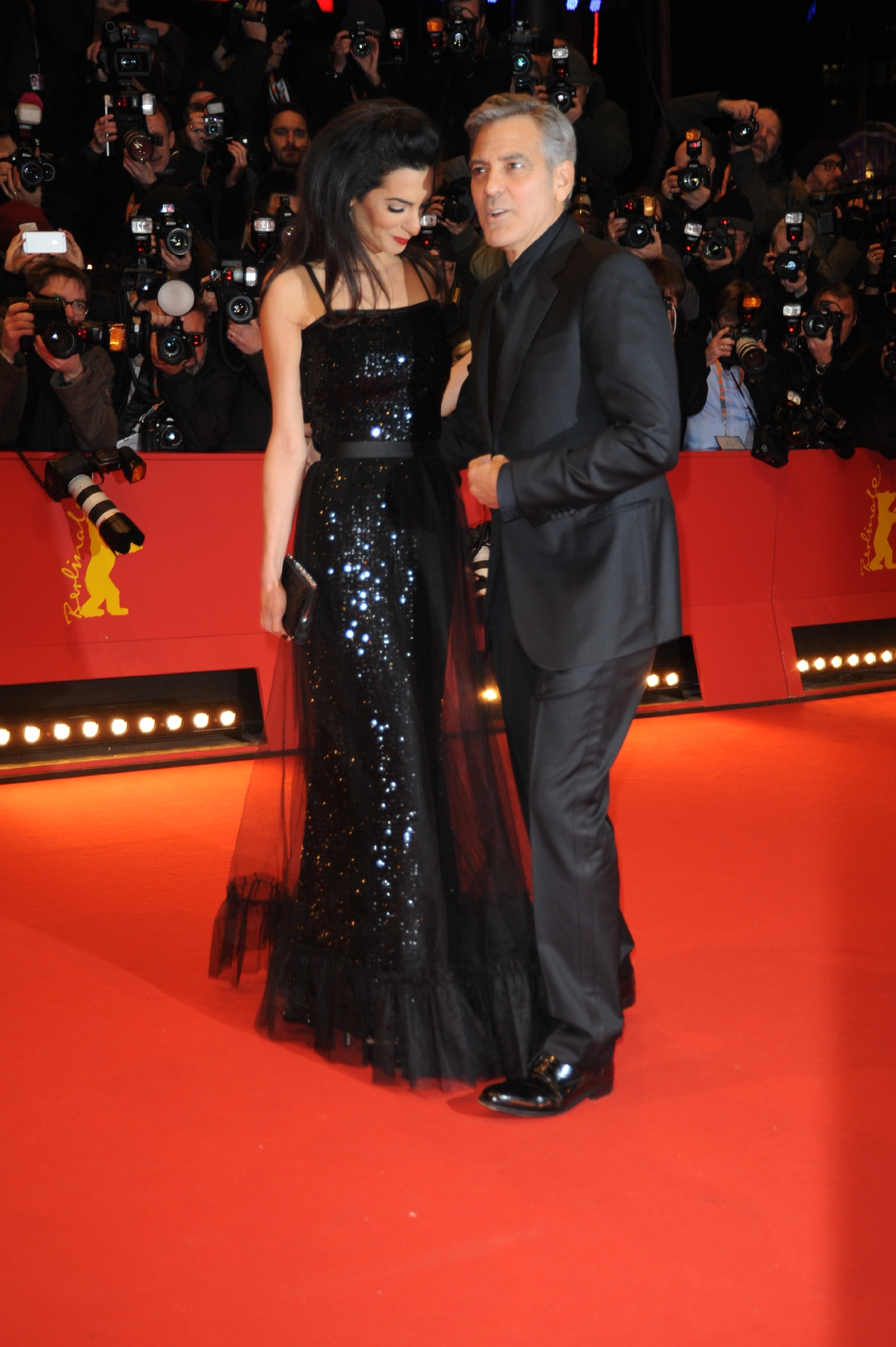 The 66th annual International Berlin Film Festival (Berlinale) - Opening Gala & Hail, Caesar! - Premiere at Berlinale Palace in Potsdamer Platz - Red Carpet Arrivals  Featuring: Amal Clooney, Georges Clooney Where: Berlin, Germany When: 11 Feb 2016 Credit: WENN.com  **Not available for publication in France**