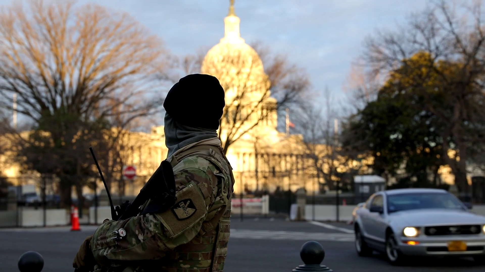U.S. Soldiers with the Utah National Guard provide security throughout Washington, D.C., Jan. 16-18, 2021. At least 25,000 National Guard men and women have been authorized to conduct security, communication and logistical missions in support of federal and District authorities leading up and through the 59th Presidential Inauguration. (U.S. Army National Guard Photo by Sgt. Jordan Hack)