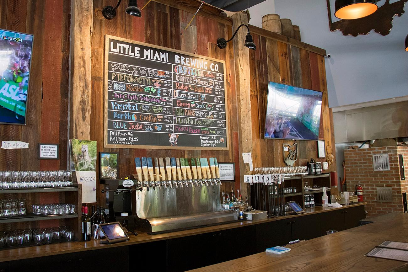 Little Miami Brewing Company in Milford serves its own beer as well as brick oven pizza. In addition to having a large taproom and outdoor area within feet of the Little Miami River and bike trail, the brewery also serves sandwiches, salads, nachos, and other menu items. It is open every day of the week. ADDRESS: 208 Mill Street (45150) / Image: Allison McAdams // Published: 7.5.18