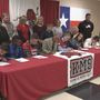 Kountze Middle School students hold their own signing day