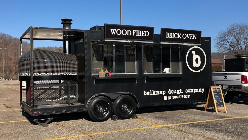Brick pizza oven food truck
