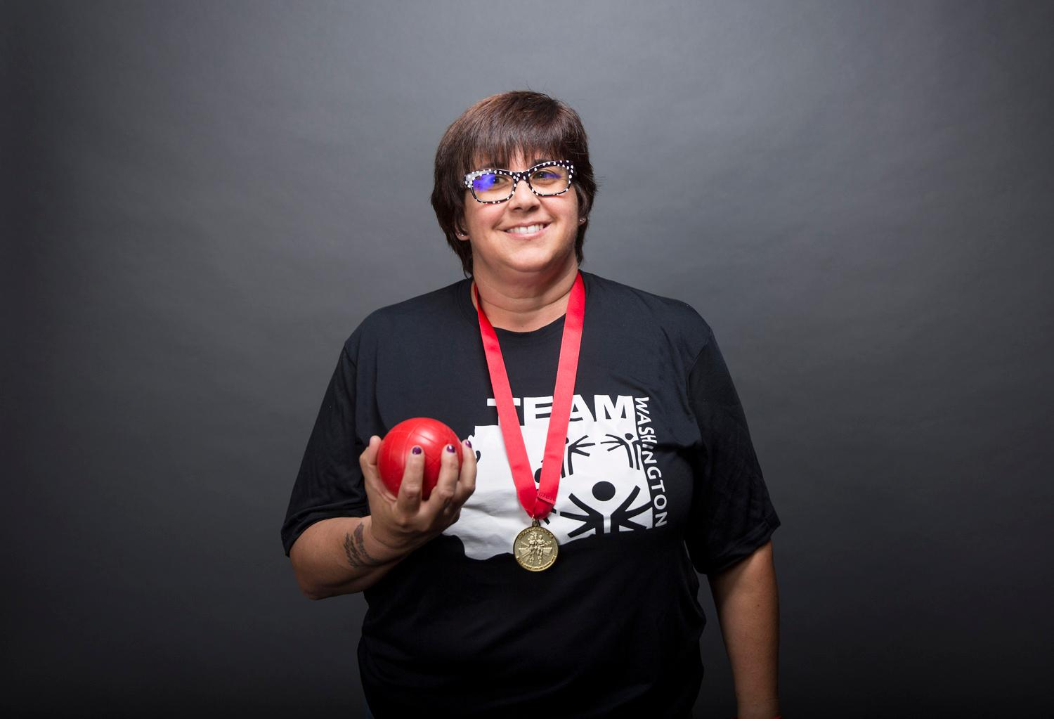 Introducing Michelle Anderson! Michelle will be competing in bocce. The Special Olympics USA will take place in Seattle from July 1-6, with a grand opening ceremony and Parade of Athletes and the lighting of the Special Olympics Flame of Hope. (Sy Bean / Seattle Refined)