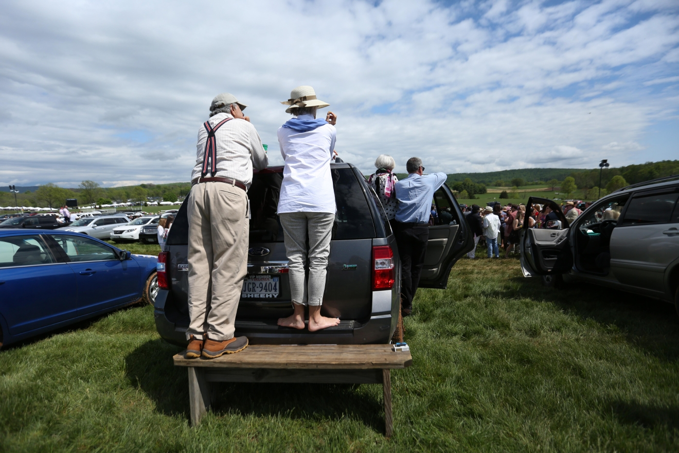 Some used their tailgates to get a better view of the race. (Amanda Andrade-Rhoades/DC Refined)