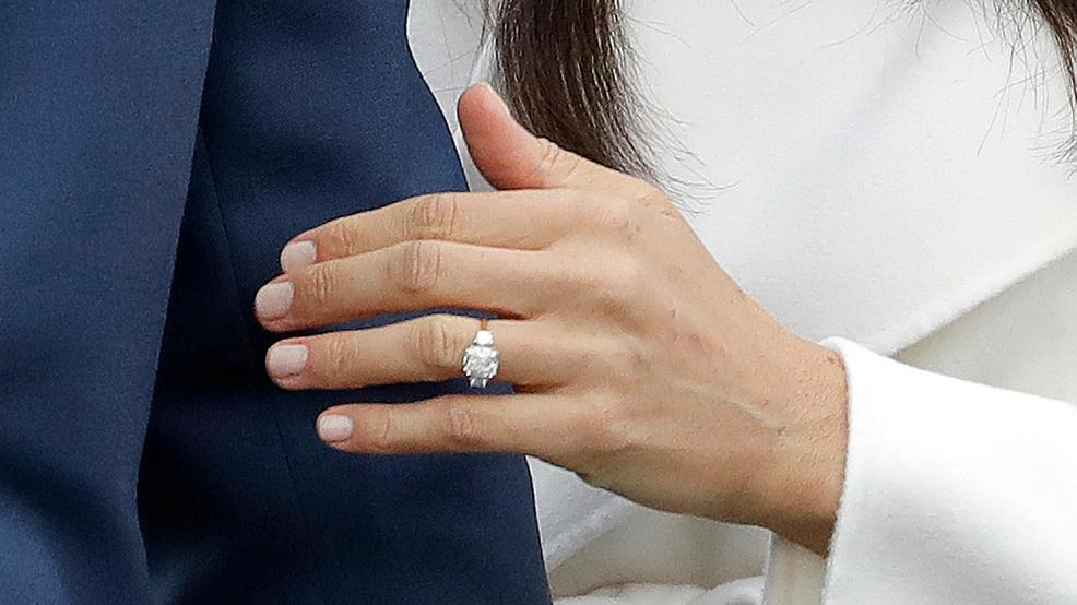 Markle engagement ring has 2 of Diana\'s diamonds   WJLA