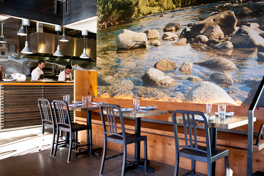Inside Fremont's RockCreek with a look at Chef Eric Donnelly at the pass. (Image: Olivia Brent)