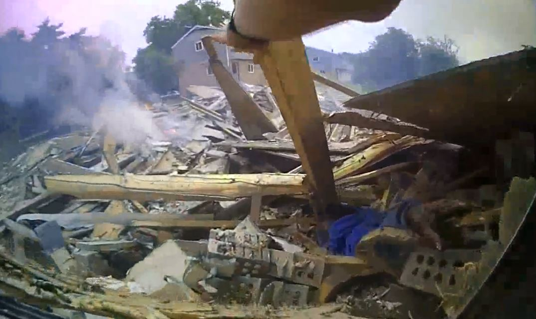 Two people were critically injured when a house exploded in east Columbus, near downtown (Columbus Police)