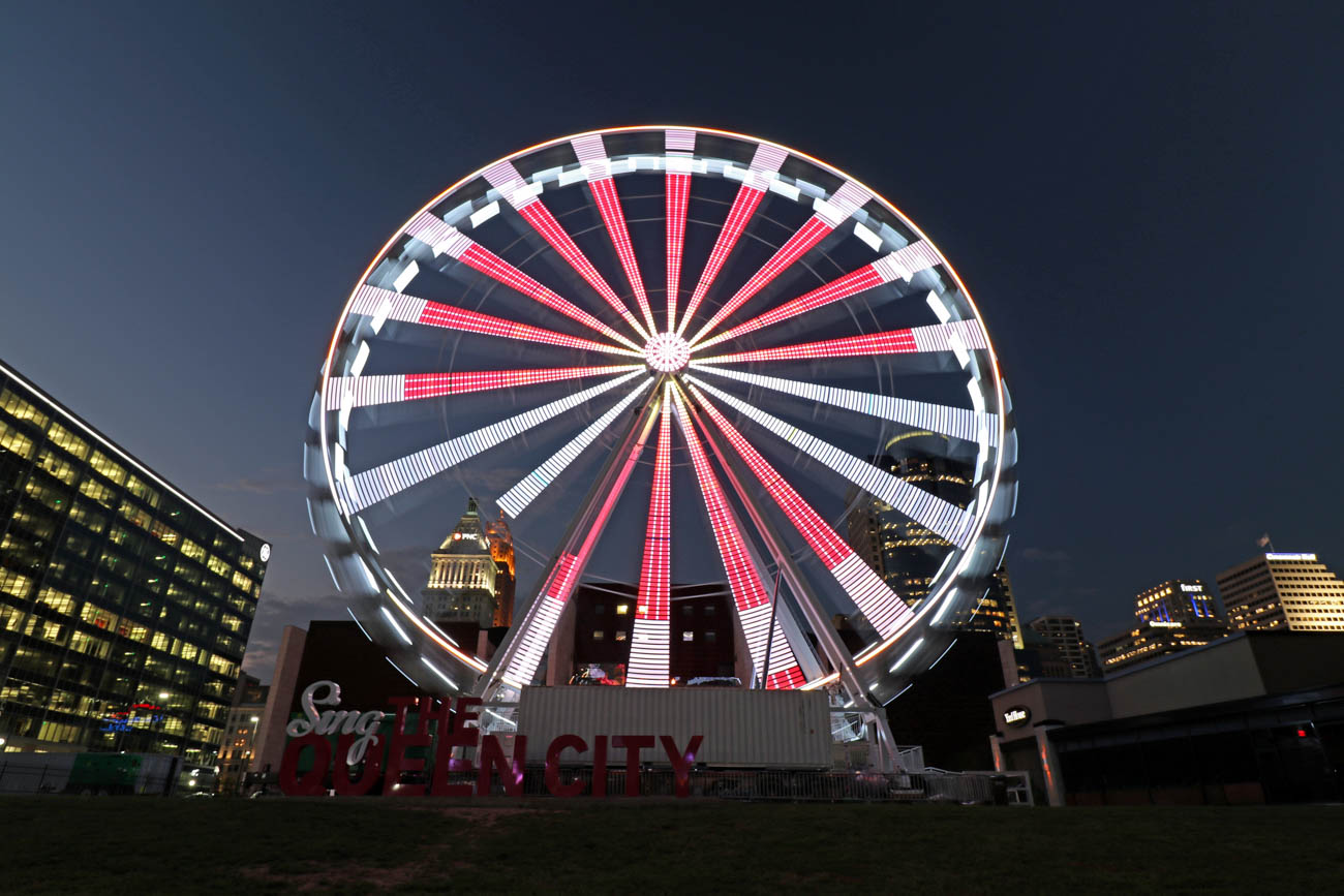 "Larry also loves photographing The SkyStar Wheel. He wants it to become a permanent Cincinnati feature. He says, ""I love what it adds to the skyline."" / Image: Larry Thomas // Published: 1.16.19"
