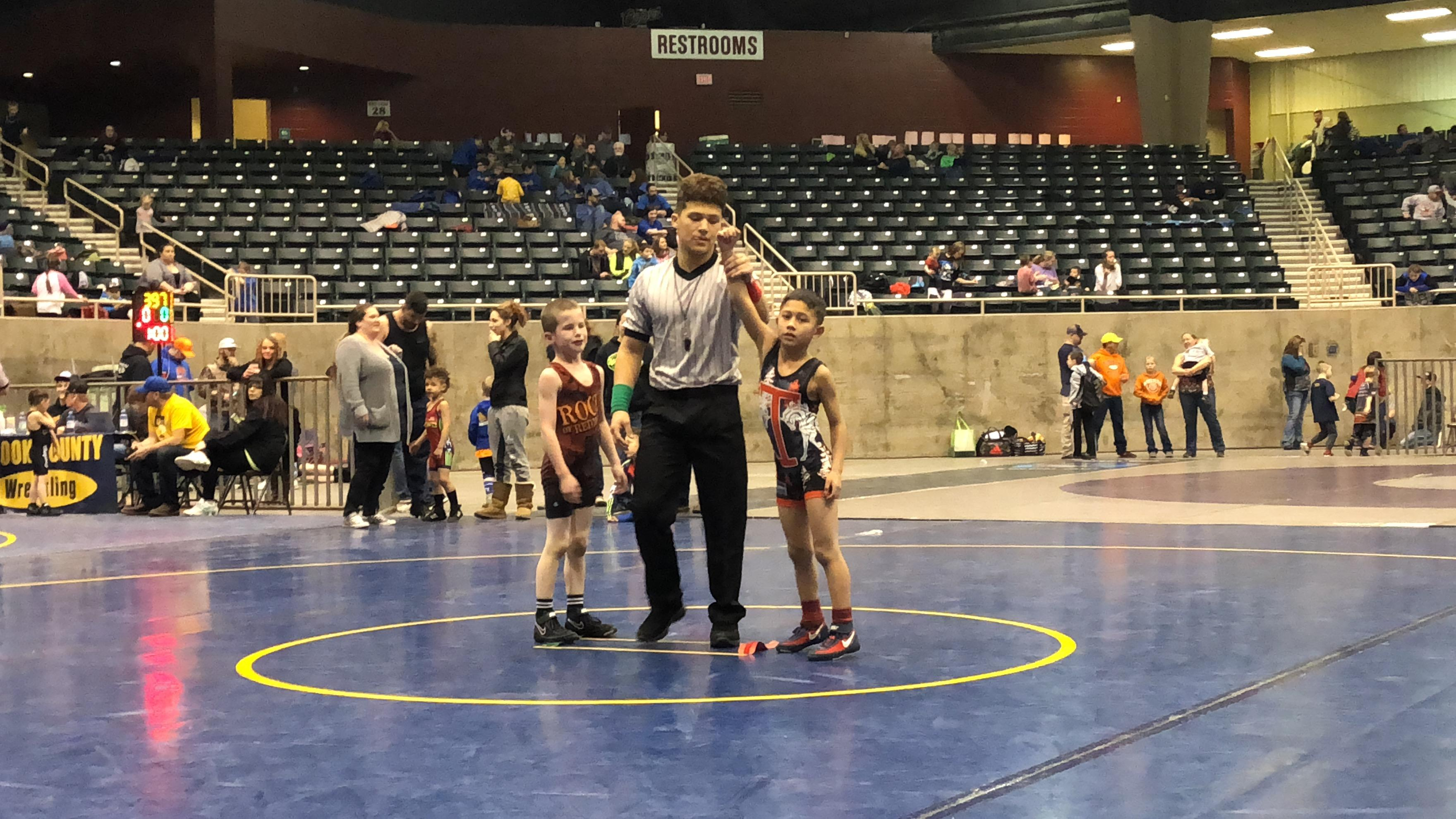 When Ethan Regas is on the mat, he's in a league all his own.