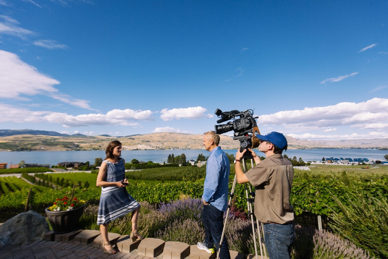 "On a recent trip to Lake Chelan, we were tasked with exploring multiple wineries, restaurants, activity centers and views to put into a half-hour TV show. Tough life right? Well actually, it really is - because we could go on and on about the things we saw for much longer than 30 minutes. Soooo we are going to do a quick Chelan Spotlight every week to highlight some of the places we saw! This week, it's all about Nefarious Cellars. What started as a dream (and risk) taken in 1998 when Dean and Heather planted a test block vineyard 20 minutes outside of Lake Chelan, saw success, and officially packed up and moved to the Willamette to make Pinot Noir in 2001 and the rest  is history! We (and especially Gaard), can attest to how great their wine is; but don't trust just us - Food & Wine Magazine named them one of ""19 Best Washington Wineries to Visit""! More info on eating, drinking and visiting at nefariouscellars.com. (Image: Joshua Lewis / Seattle Refined)"