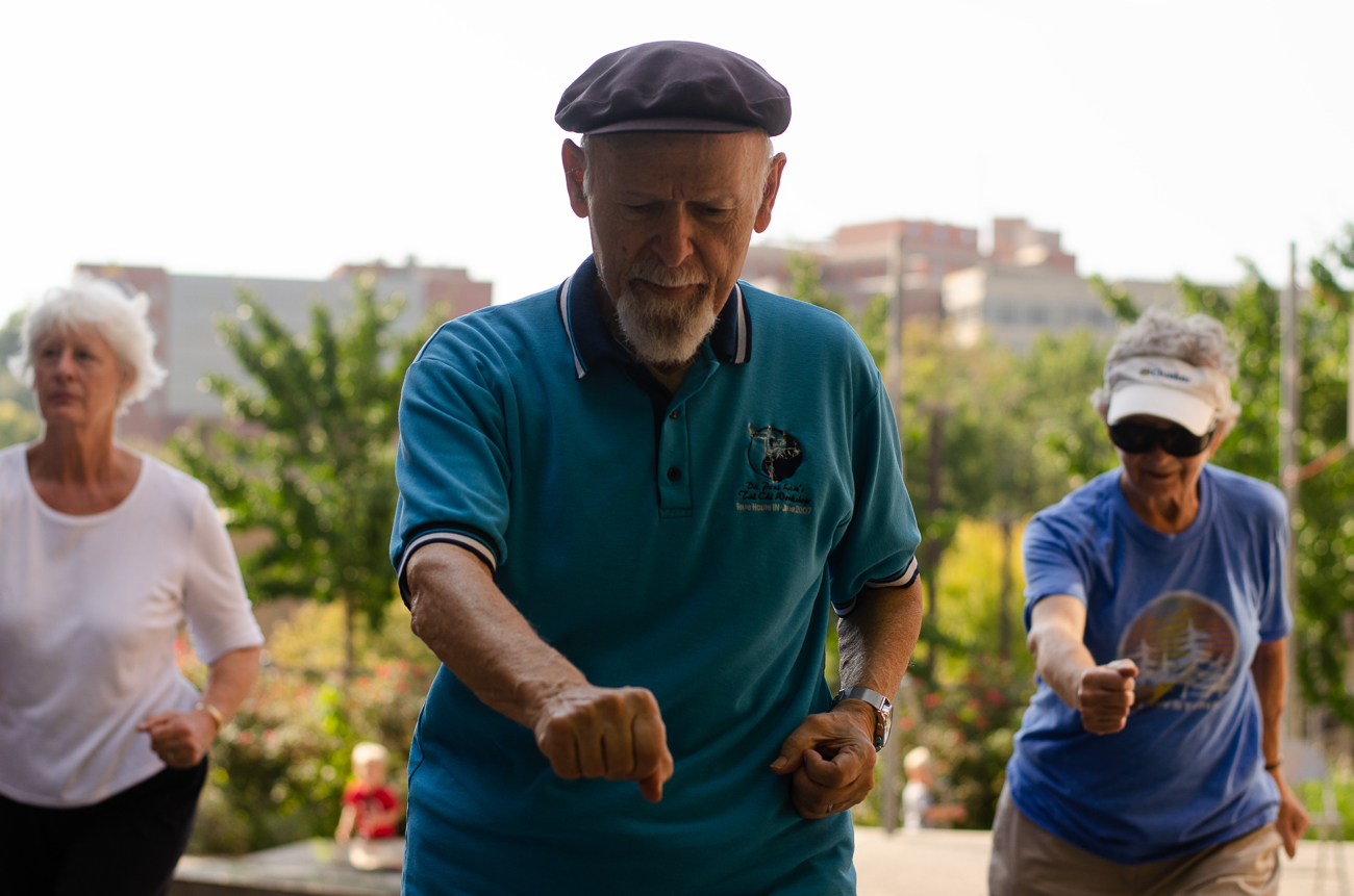 Michael Port doing Tai Chi / Image: Kellie Coleman // Published: 10.7.18