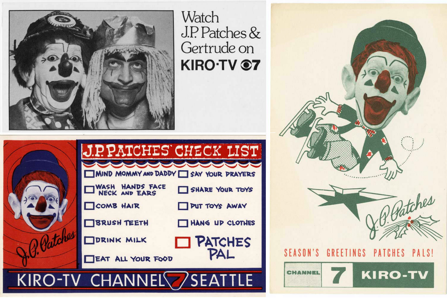 <p>KIRO promotional material for the J.P. Patches Show (Image credit: The Museum of History and Industry)</p>