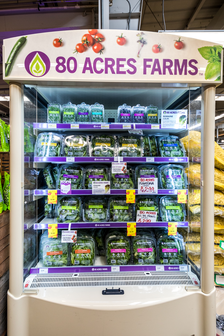 Some of 80 Acres Farms' goods at Jungle Jim's in Fairfield / Image: Catherine Viox // Published: 5.29.20