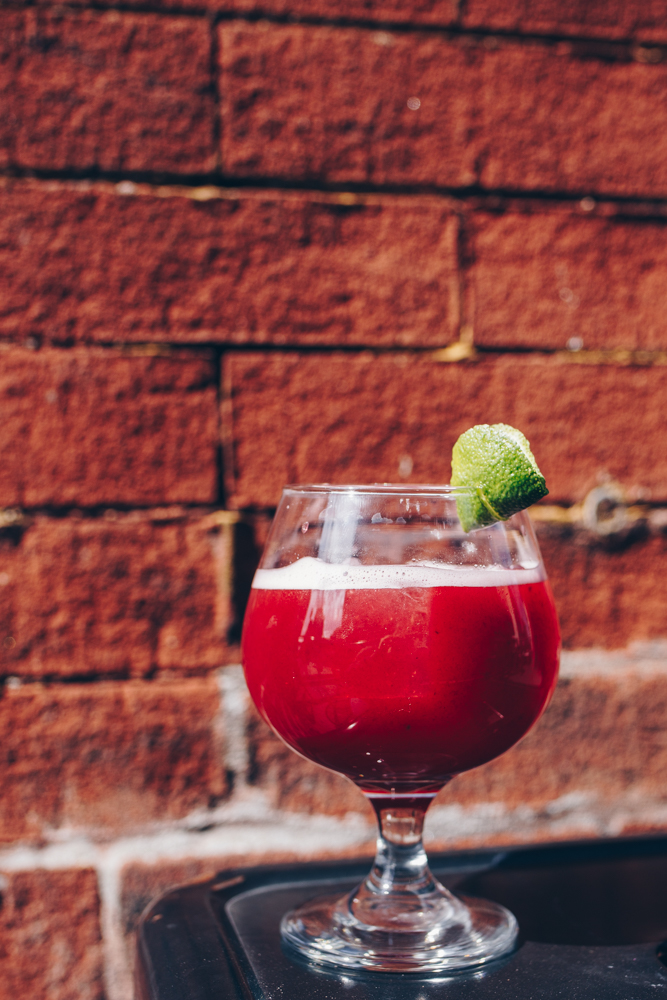 Hot Child In The City: Jalapeño-infused El Jimador Tequila, Chambord Liqueur, grapefruit, lime, agave, blackberries, and an expressed lime peel / Image: Catherine Viox // Published: 5.8.18