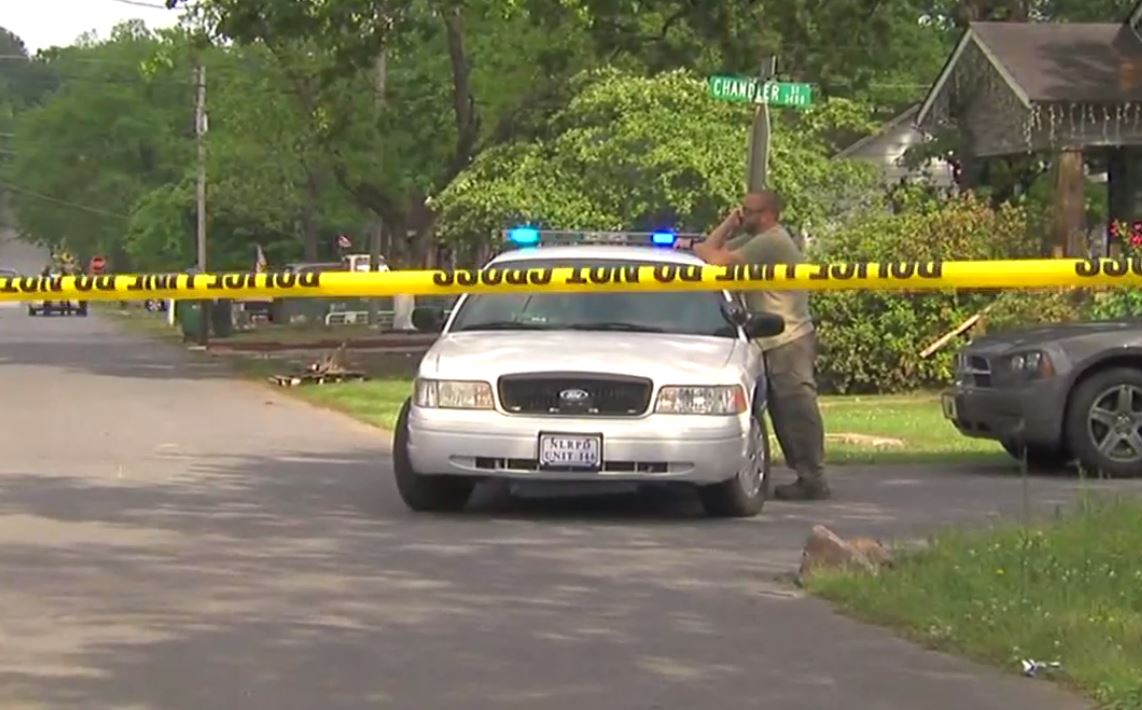 Police are on the scene of a shooting Tuesday afternoon on W. 34th in North Little Rock. (KATV photo)