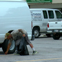 Homeless man picking up trash in Tulsa hopes of changing his life