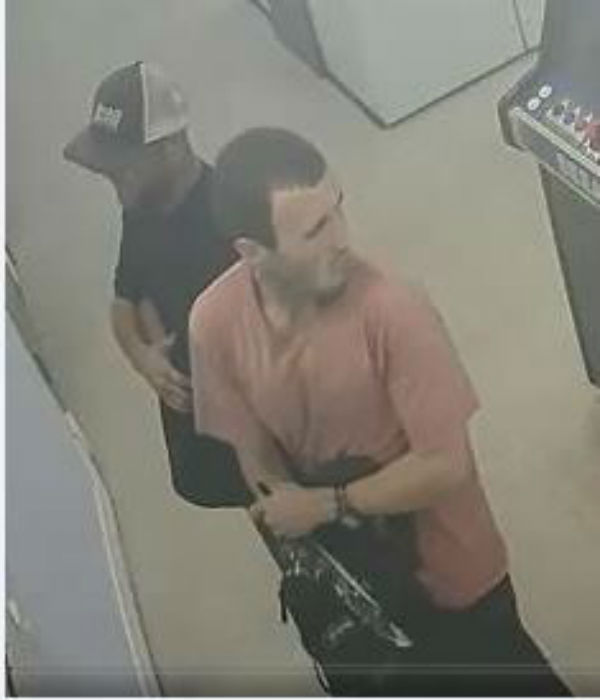 Police are looking for two men suspected in a burglary at the Wilson Road Laundromat in Bakersfield, Calif. (Photo provided by Bakersfield Police Department)