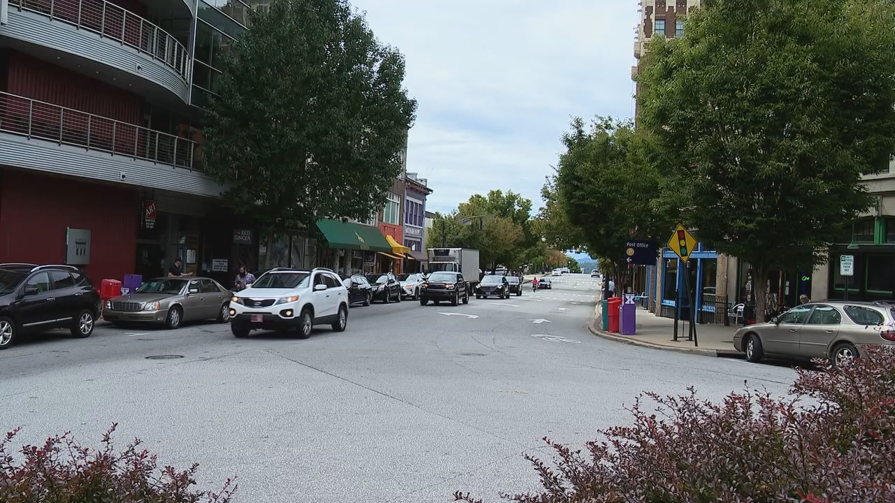 After a tough year, there are at least two businesses -- Melting Pot Social and Citizen Vinyl -- set to launch in downtown Asheville. (Photo credit: WLOS staff)