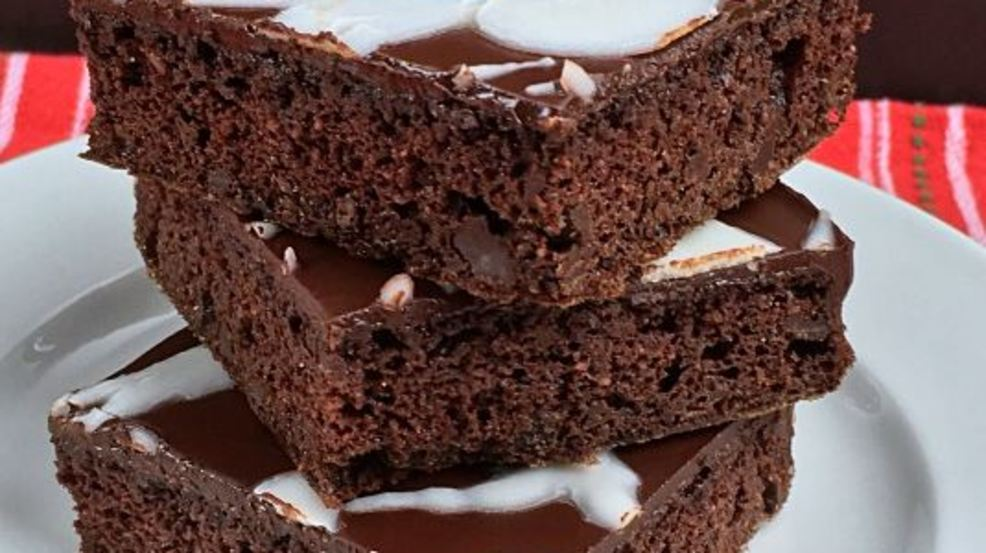 Dark Chocolate Brownies with a Holiday Twist