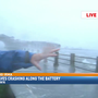 VIDEO: Strong, high waves smash and cover The Battery in downtown Charleston