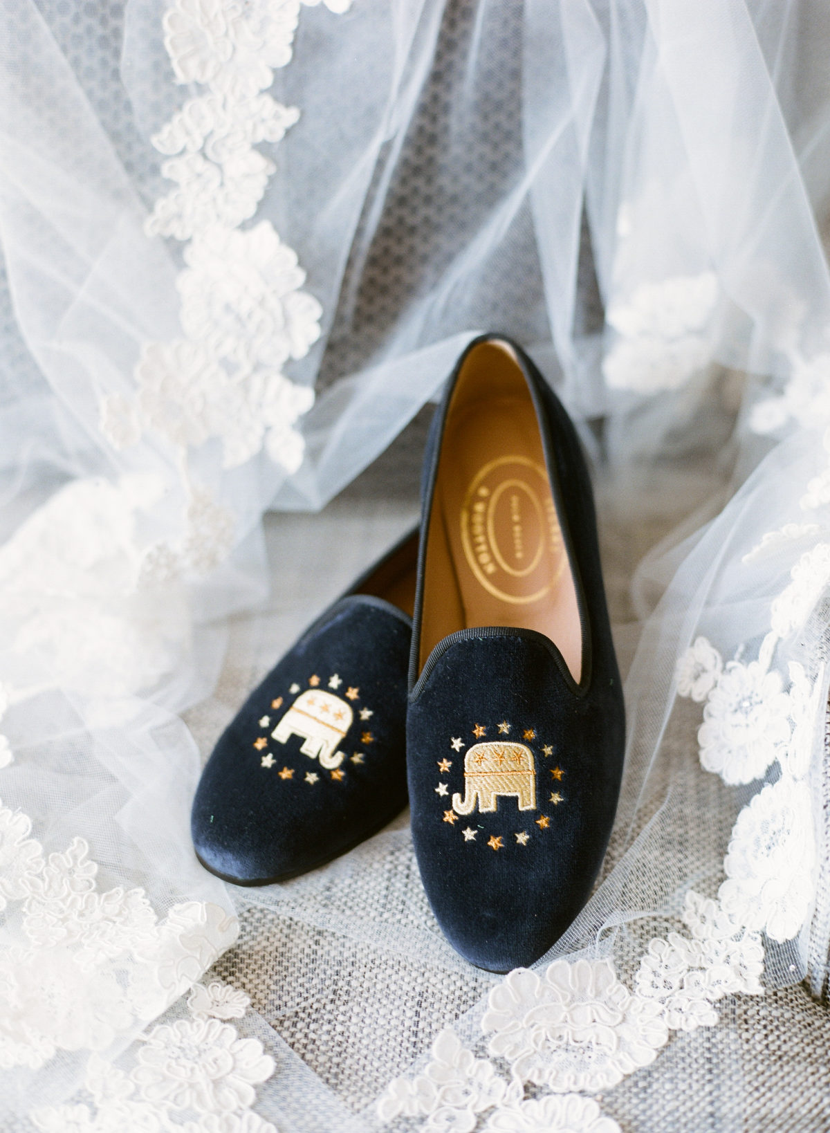 Shoes: Stubbs & Wootton (Image: Abby Grace Photography/ abbygracephotography.com)
