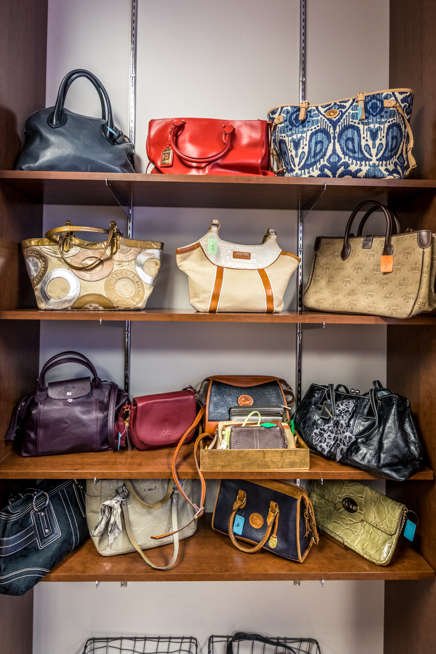 All of the items in the shop are donated and always high-quality. They carry brands such as Coach, Gap, Armani, St. John, Banana Republic, and more. / Image: Catherine Viox // Published: 1.22.20
