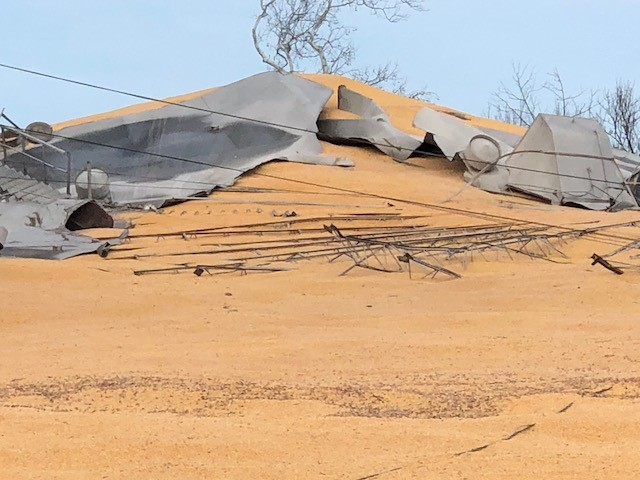10,000 tons of corn spilled after silo collapse in New Carlisle (WKEF/WRGT)