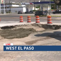 Water main break causes sinkhole on Mesa Street