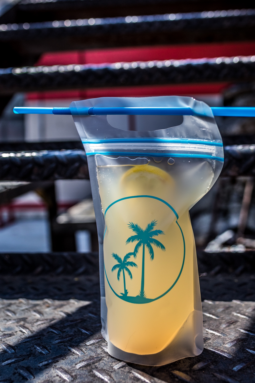 Capri Sun of Anarchy: six oz bag of fresh lavender lemonade with vodka / Image: Catherine Viox // Published: 5.2.20