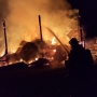 Barn fire lights up the night east of Creswell