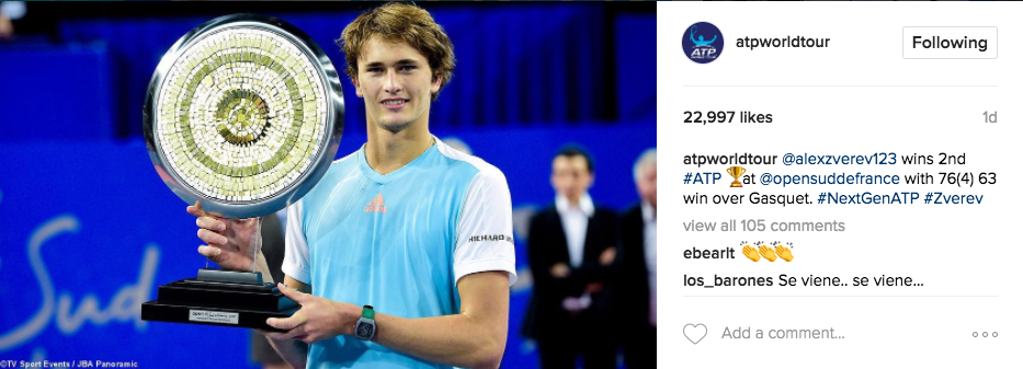 Alexander Zverev won his second ATP title in Montpellier on Sunday.