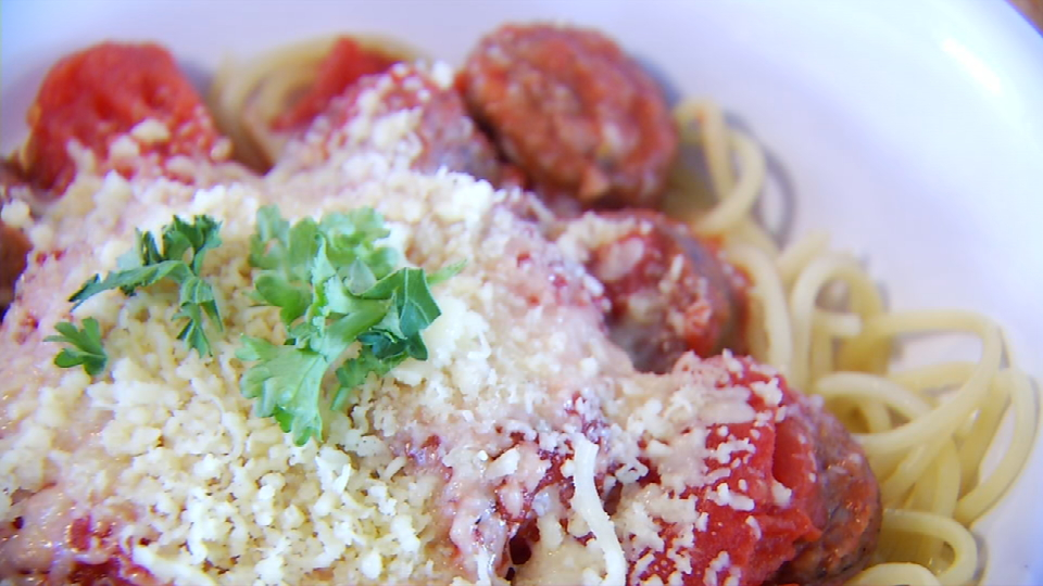 This is their newest dish called Main Street Tour which includes Parmesan cheese, chicken Alfredo and Pasta. (News 4 San Antonio)<p></p>