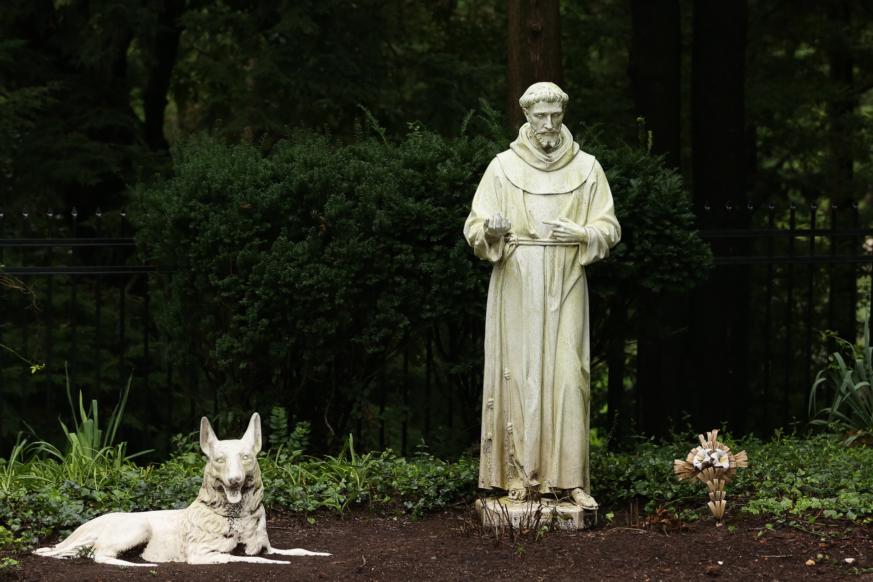 The monastery also has sweeping gardens and pay tributes to animals. Many Fransican orders trace their origins to Saint Francis of Assisi, who focused on the natural world. (Amanda Andrade-Rhoades/DC Refined)<br>