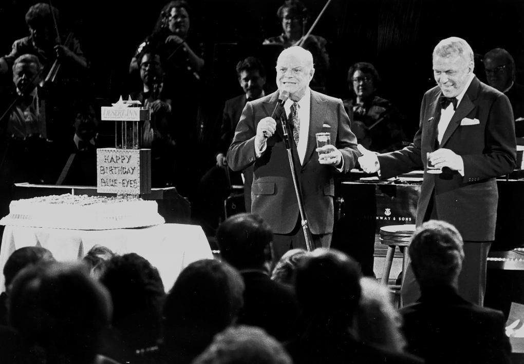 Don Rickles and Frank Sinatra on Jan. 5, 1993. [Las Vegas News Bureau file photo]