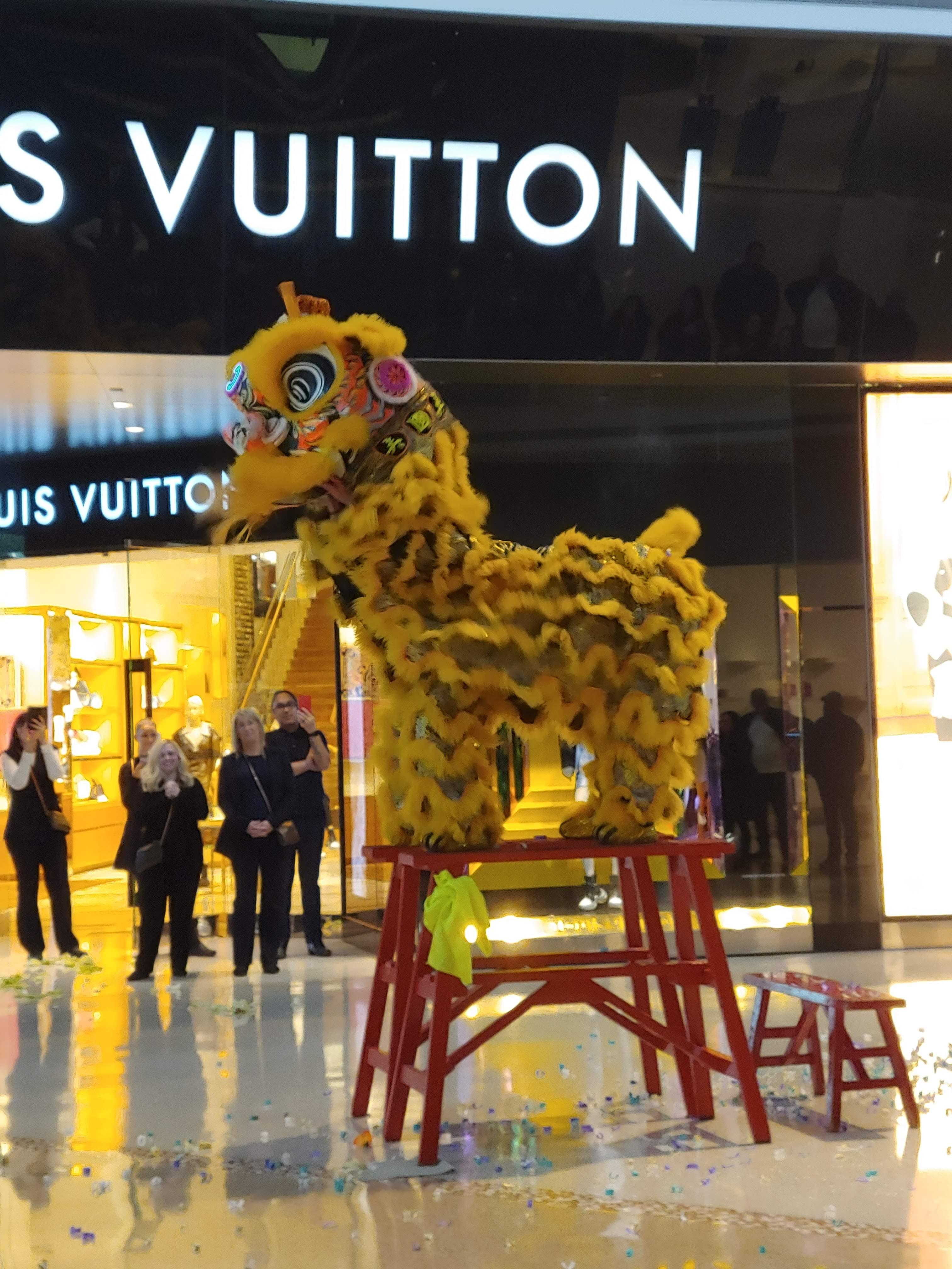 The Shops at Crystals had a traditional Lion Dance from acclaimed Martial Arts Studio and America's Got Talent finalists Yau Kung Moon (Photo Courtesy The Shops at Crystals / Curator PR)
