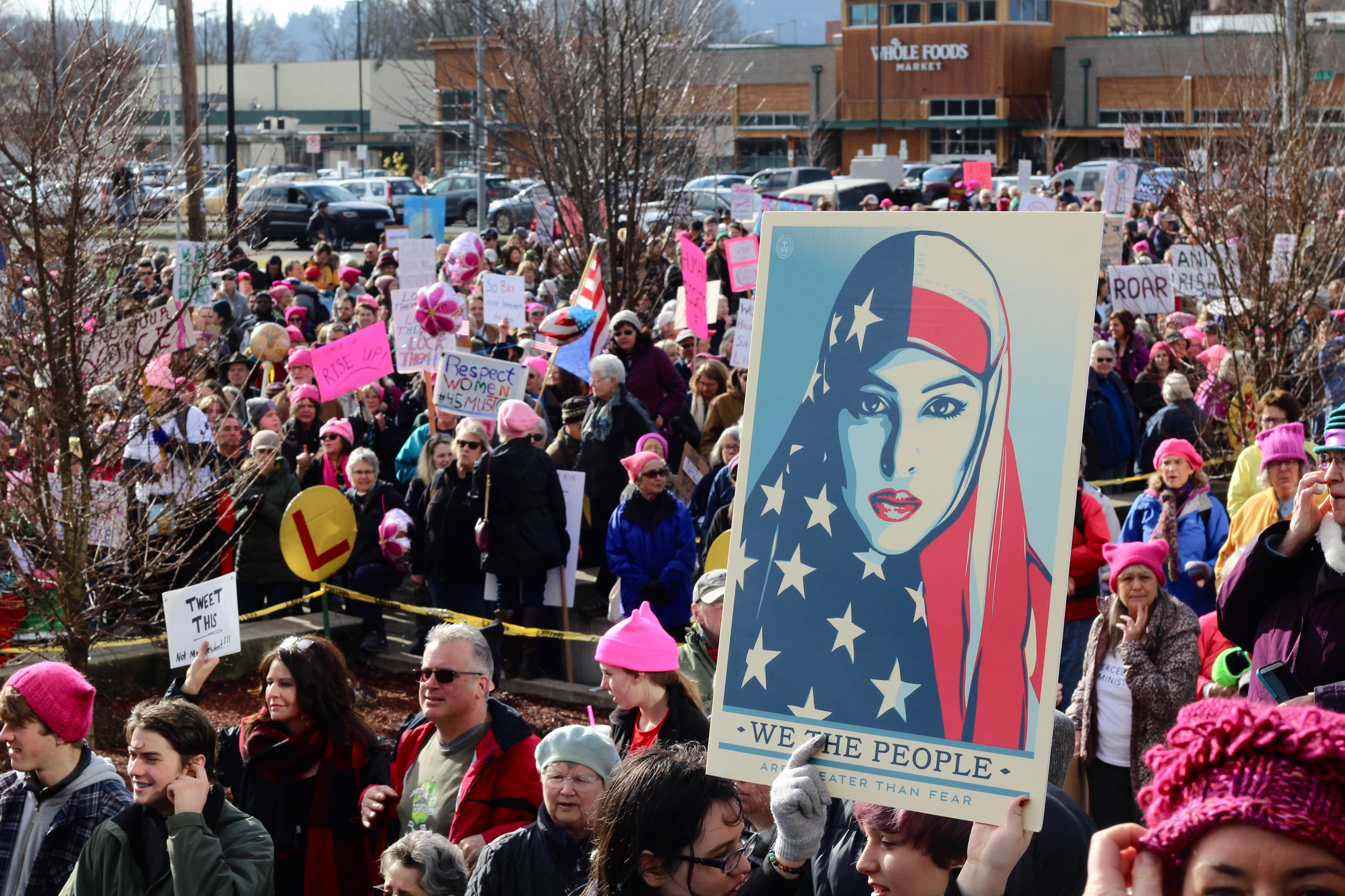 Thousands of peaceful protesters took to the Eugene streets on Saturday for the second annual Eugene Women's March, which takes place on the anniversary of President Trump's inauguration. (Photos courtesy of Zachary Neel)