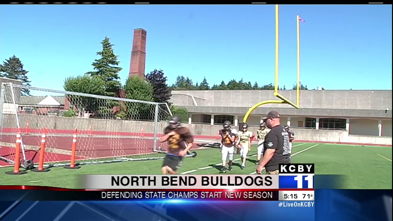North Bend practices prior to their season opener, August 31, 2017. (SBG)