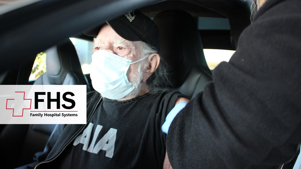 Willie Nelson receives COVID-19 vaccine at Texas emergency room