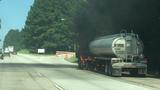 Tanker catches fire on I-16W near Macon
